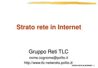 Strato rete in Internet