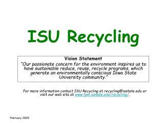 ISU Recycling