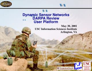 Dynamic Sensor Networks DARPA Review User Platform