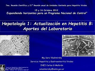 Hepatología 1: Actualización en Hepatitis B: Aportes del Laboratorio