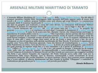 ARSENALE MILITARE MARITTIMO  DI  TARANTO