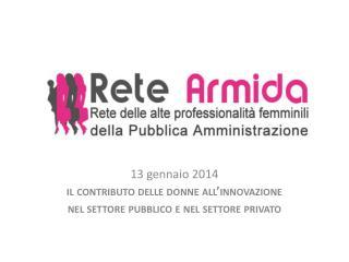 13 gennaio 2014 il contributo delle donne all'innovazione