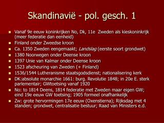 Skandinavië - pol. gesch. 1