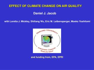 EFFECT OF CLIMATE CHANGE ON AIR QUALITY