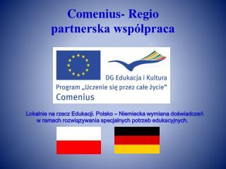Comenius-  Regio partnerska współpraca