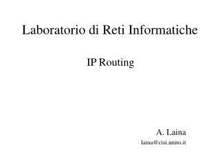 Laboratorio di Reti Informatiche