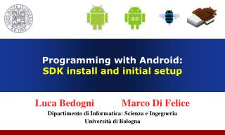 Programming with Android:  SDK install and initial setup