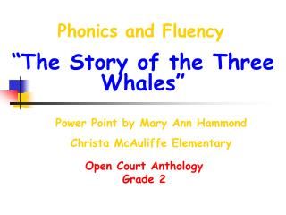 Phonics and Fluency