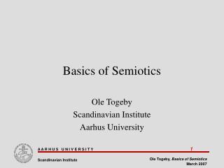 Basics of Semiotics