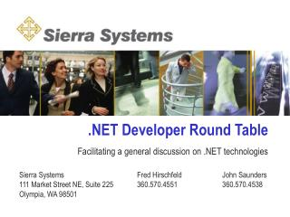 .NET Developer Round Table
