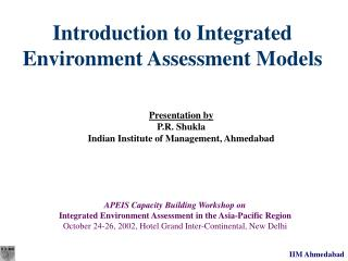 Introduction to Integrated Environment Assessment Models