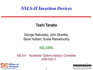 NSLS-II Insertion Devices