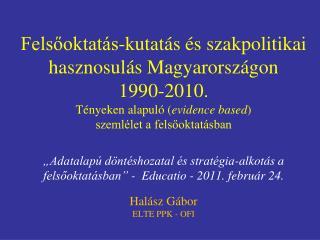 Kutatás és szakpolitika