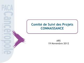 Comité de Suivi des Projets CONNAISSANCE