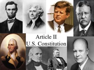 Article II U.S. Constitution