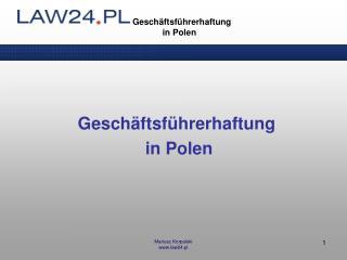 Geschäftsführerhaftung      in Polen