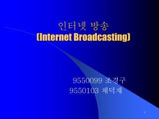 인터넷 방송 ( Internet Broadcasting)