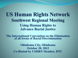 US Human Rights Network Southwest Regional Meeting
