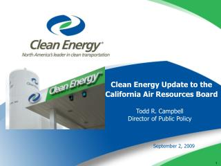 Clean Energy Update to the California Air Resources Board