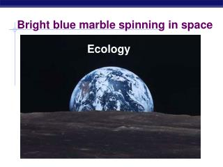 Bright blue marble spinning in space