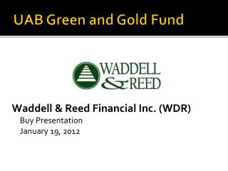UAB Green and Gold Fund