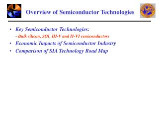 Overview of Semiconductor Technologies