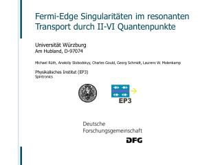 Fermi-Edge Singularitäten im resonanten Transport durch II-VI Quantenpunkte
