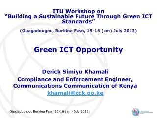 Green ICT Opportunity