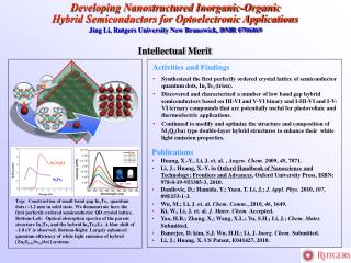 Developing Nanostructured Inorganic-Organic Hybrid Semiconductors for Optoelectronic Applications
