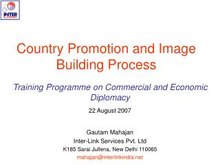 Country Promotion and Image Building Process