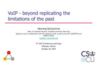 VoIP - beyond replicating the limitations of the past