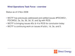 Wind Operations Task Force - overview