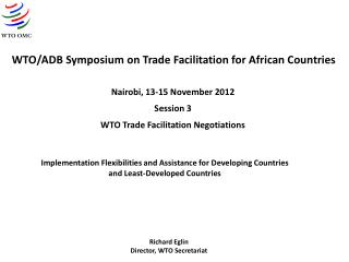 WTO/ADB Symposium on Trade Facilitation for African Countries
