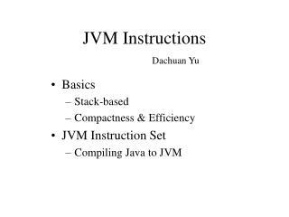 JVM Instructions