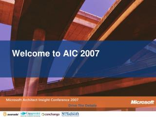 Welcome to AIC 2007