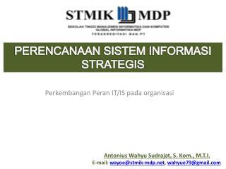 Perkembangan Peran  IT/IS  pada organisasi