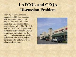 LAFCO's and CEQA Discussion Problem