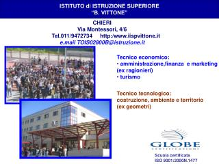 """ISTITUTO di ISTRUZIONE SUPERIORE """"B. VITTONE"""""""