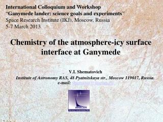 Chemistry of the atmosphere-icy surface interface at Ganymede