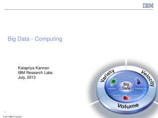 Big Data - Computing