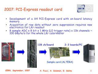 2007: PCI-Express readout card