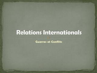 Relations Internationals