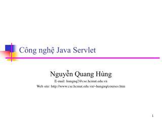 C�ng ngh? Java Servlet