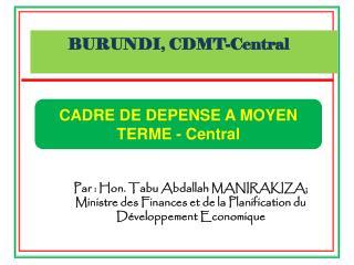 BURUNDI, CDMT-Central