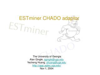 ESTminer CHADO adaptor