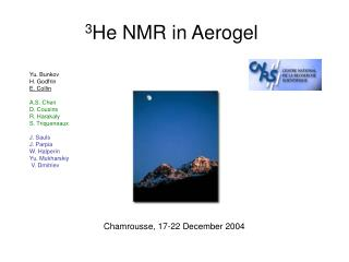 3 He NMR in Aerogel