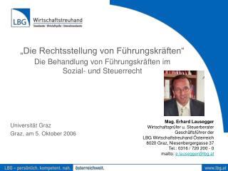 Die Rechtsstellung von F hrungskr ften   Die Behandlung von F hrungskr ften im  Sozial- und Steuerrecht