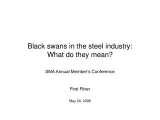 Black swans in the steel industry:  What do they mean?