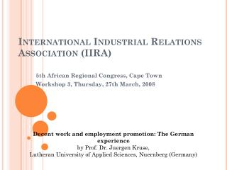 International Industrial Relations  Association  (IIRA)