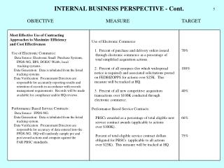 Most Effective Use of Contracting Approaches to Maximize Efficiency and Cost Effectiveness
